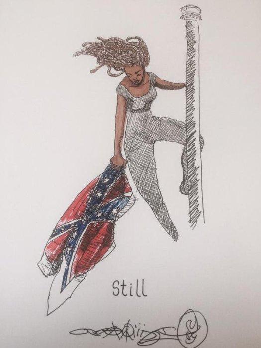Activist Bree Newsome takes down Confederate flag